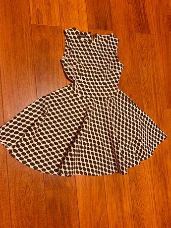 Sukienka rozkloszowa w kropki rozmiar 36