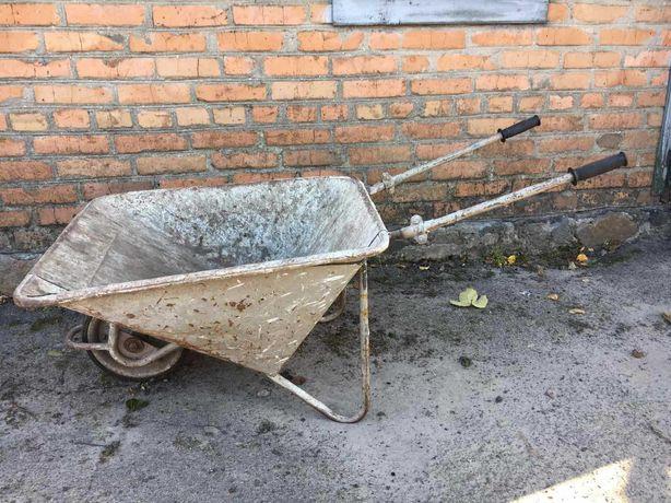 Тачка садово - строительная железная