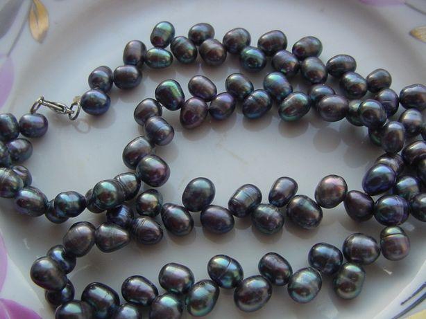 Ожерелье из черного жемчуга Таити