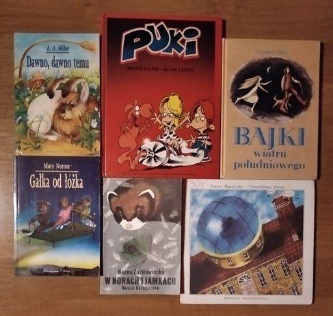 zestaw książek dla dzieci.