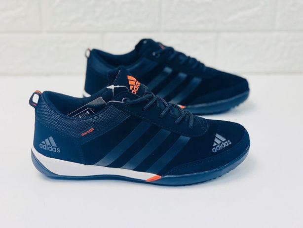 кроссовки мальчиковые подростковые Adidas daroga Адидас чёрные 36-4