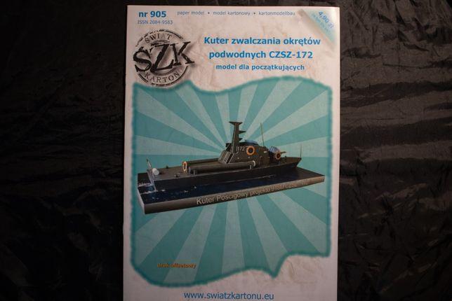 Model kartonowy-kuter CZSZ-172