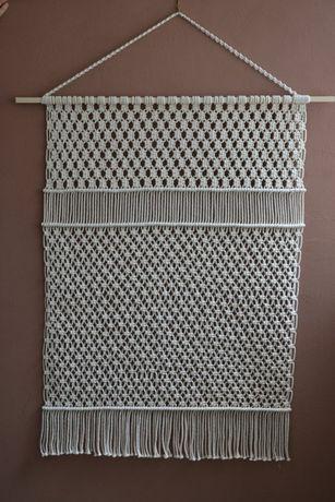 Макраме панно штора