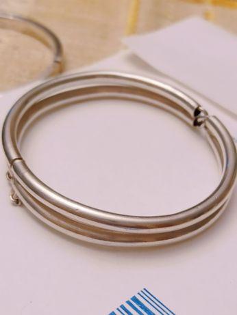 srebrna bransoletka warmet sygnatura 925 autorska inicjały