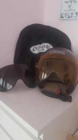 OSBE Kask narciarski rozm. 64, gogle x 2