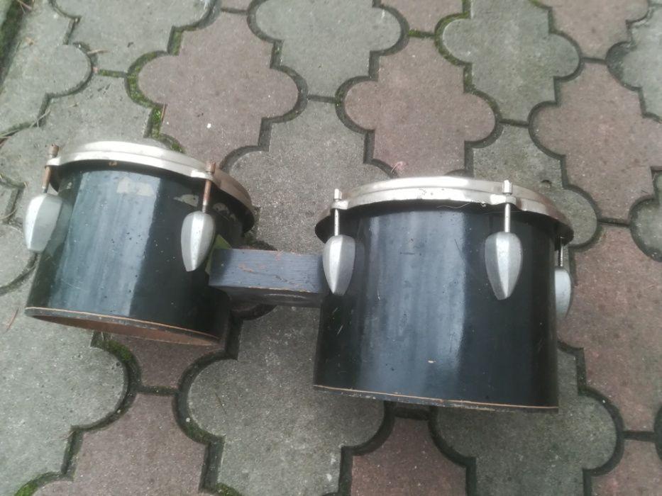"""Bębny (bongosy) firmy Szpaderski 8"""" i 10"""". Cena za komplet 160zł"""