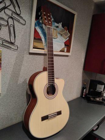 Piękna nowa gitara elektroklasyczna Almeria CC-36 EQ NT świerk + mahoń