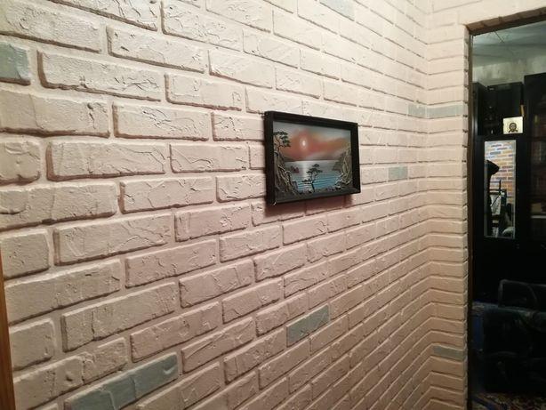 Лофт, декор стен под кирпич