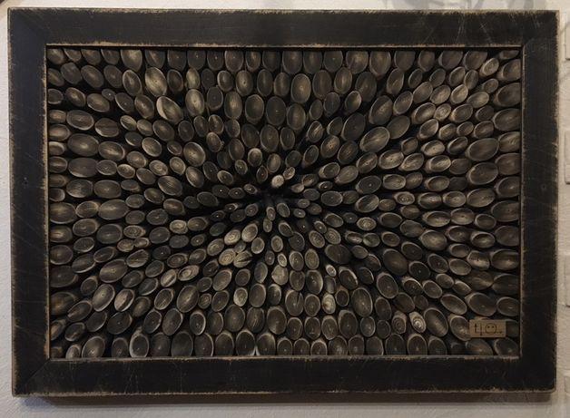 Продаю картину стиль 3Д 3D виготовлена з гілок ЛІЩИНИ єдиний екземпляр