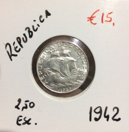 Moeda de Prata 2$50 1942