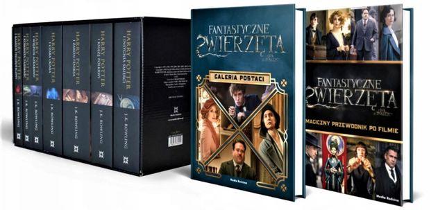 Harry Potter siedmiopak CZARNA edycja (oprawa miękka) + dodatki