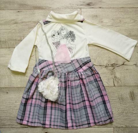 Детское платье с сумочкой 2-4 года