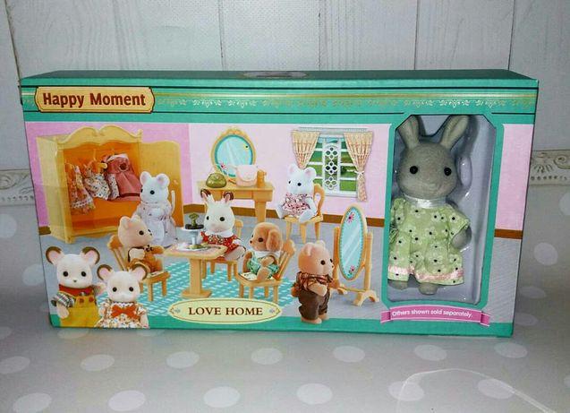 Набор мебели Happy family + фигурка / Хэппи фэмили