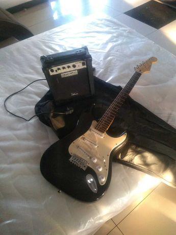 Gitara Elektryczna + Piecyk Wzmacniacz + Pokrowiec