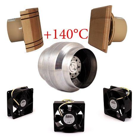 Вентилятор высокотемпературный для саун, бань, дымоходов +140°C