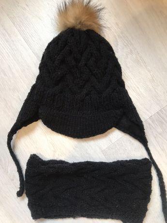 Зимняя шапка + хомут