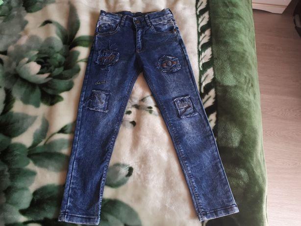 Модные джинсы джогеры узкачи на 5-6 лет