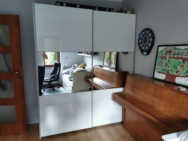 szafa z drzwiami przesuwnymi przeszklonymi 185 cm / 220 cm