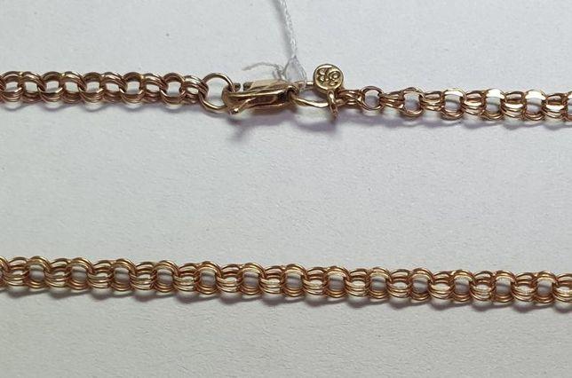 Цепь из красного золота с плетением Бисмарк (12687010) (12687010)