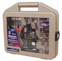 Дитячий мікроскоп Deluxe Microscope Set with Carrying Case (48 Pieces)