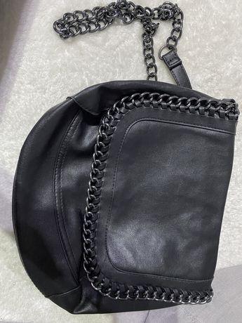 torebka czarna srednia
