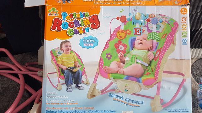 Шезлонг-качеля для малюків