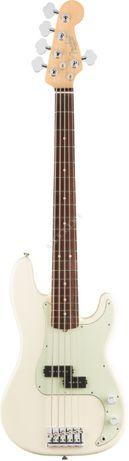 Fender American Pro Precision Bass V RW Olympic White+GRATISY gitara B