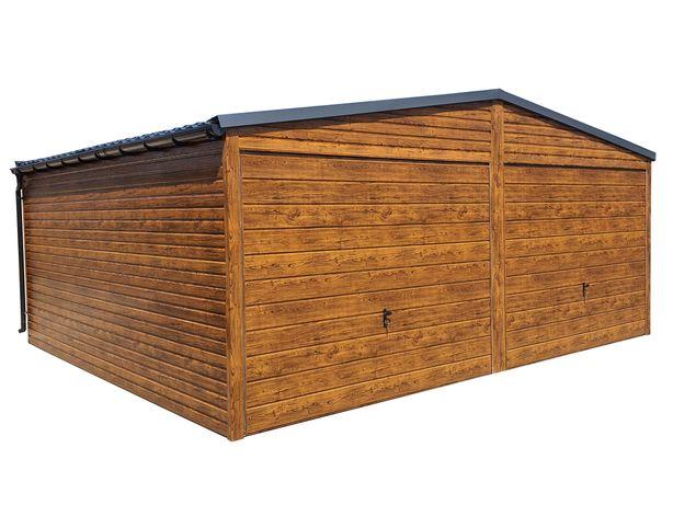 Garaż Blaszany Blaszak DREWNOPODOBNY Garaże 6x4 6x5 6x6 6x6 7x6 8x6