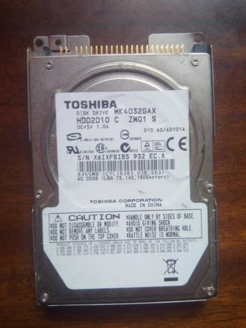 HDD 40Gb. до ноутбука ATA