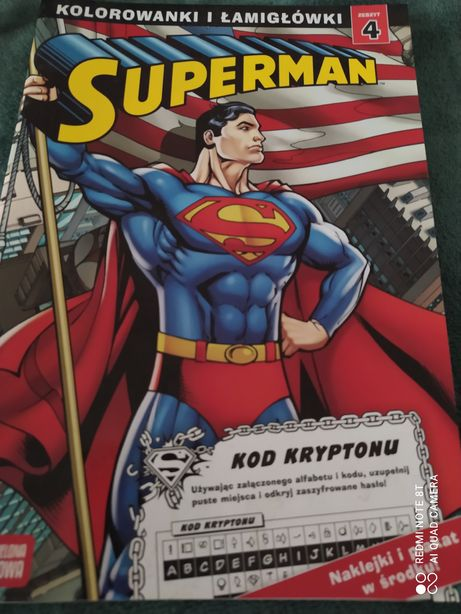 Książeczka supermen zabawa naklejki plakat