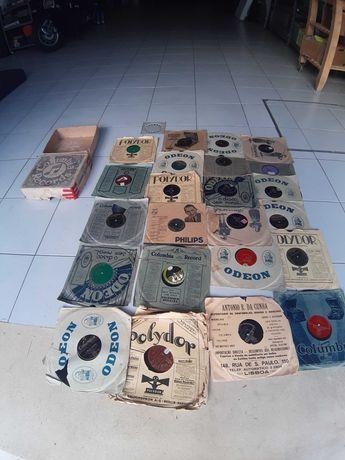 23 Discos antigos para grafenola  ou gramofone oferta  caixa original