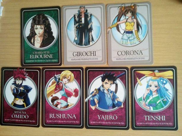 Karty kolekcjonerskie różne anime RUSHUNA i inne