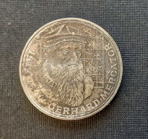 87) NIEMCY srebro - 5 Marek - 1969 r. Mercator