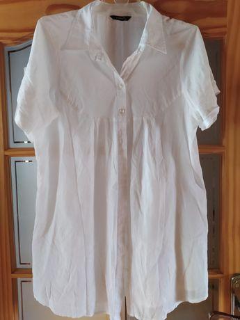 Biała długa koszula