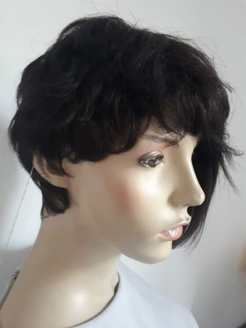 WYPRZEDAŻ-60% peruka krótkie włosy bob 100% naturalna human hair