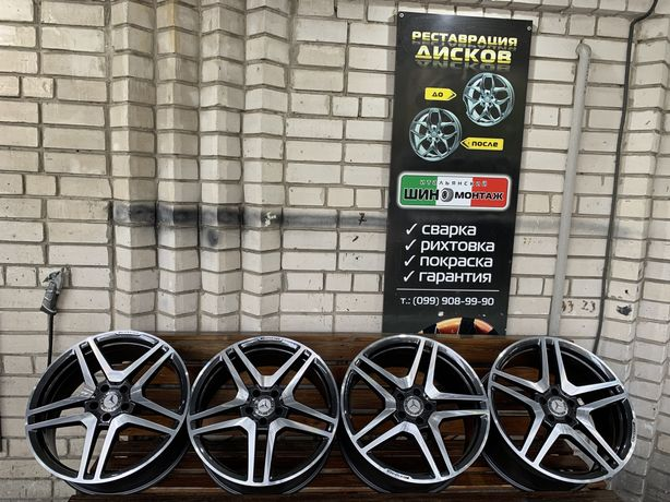99 Немецкие разноширокие кованые диски 5/112 R20 Mercedes