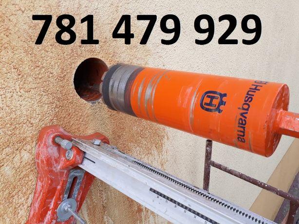 Wiercenie otworów w betonie, Ciecie betonu, przewierty wiertnica HILTI