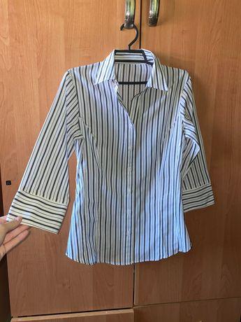 Рубашка полосатая H&M hm на S блуза блузка
