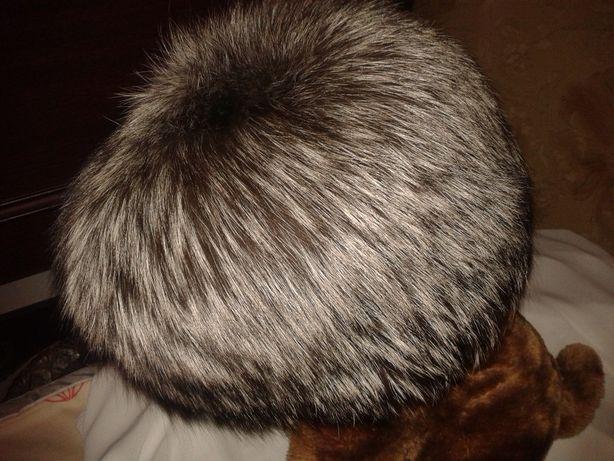 шапка чернобурка серебристая лиса