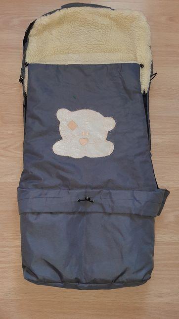 Зимний конверт на овчине,в коляску, для санок и забрать с роддома