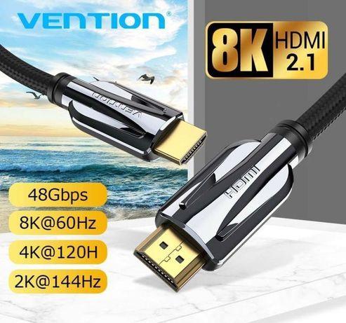 Кабель HDMI 2.1 8K-60Hz 4K-120Hz 3D HDR eARC Vention Гарантия!
