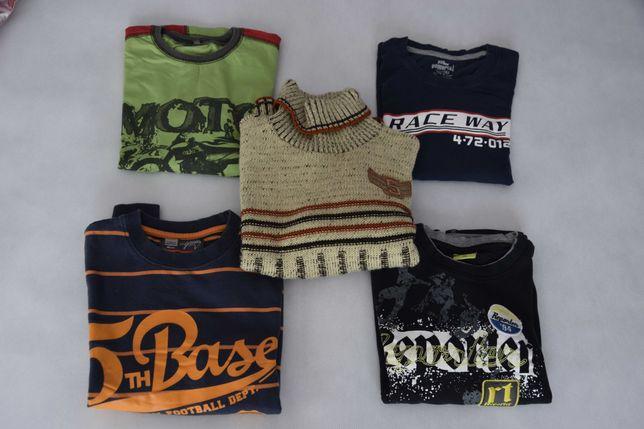 Paka ubrań dla chłopca - spodnie 152 + koszulki dł rękaw 146-152