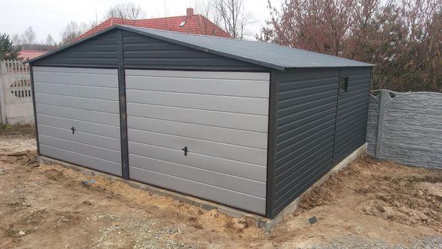 garaż blaszany 6mx5m antracyt