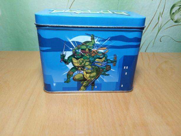 Коллекционная коробка Черепашки ниндзя новая для карточек и коммиксов