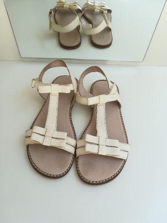 Sandały ecry Zara rozmiar 34