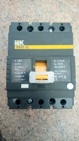 Автоматический выключатель ВА88-33 3Р 100А