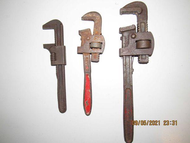 Lote de 3 chaves de canalizador made in U.S.A