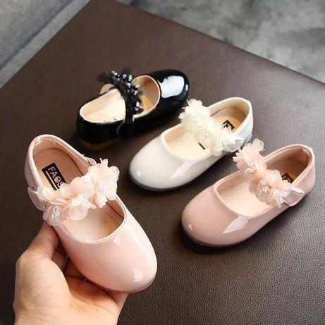 21-30р. Туфли нарядные туфельки для девочки туфлі детские мокасины 28