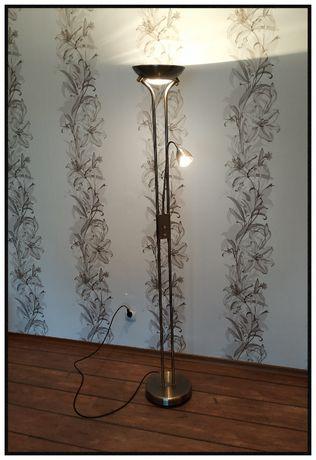 Lampa stojąca podłogowa stylowa dwupunktowa regulowane natężenie