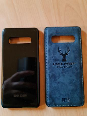 ORYGINALNE etui Samsung S 10 Plus LED cover black + Skóra Etui